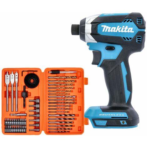 Makita DTD153Z 18V LXT Brushless 170Nm Impact Driver Gen 2 + 56 Pcs Drill & Screwdriver Bit Set