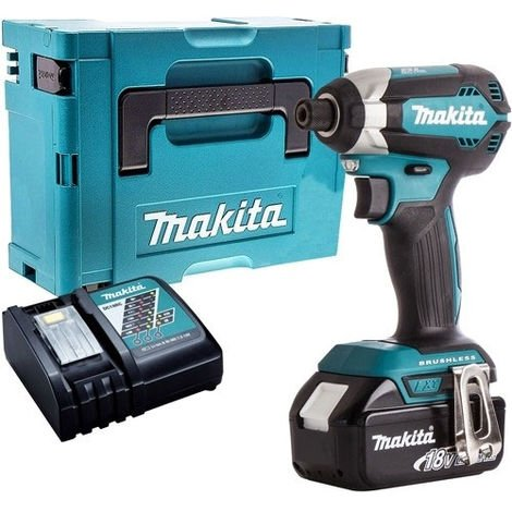 Makita DTD153Z 18V LXT Brushless Impact Driver with 1 x 5.0Ah Battery & Charger in Case