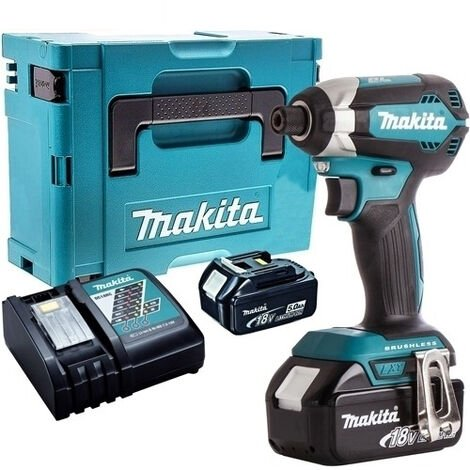 Makita DTD153Z 18V LXT Brushless Impact Driver with 2 x 5.0Ah Batteries & Charger in Case