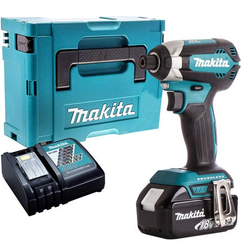 Makita DTD153Z Brushless Impact Driver with 1 x 4.0Ah Battery & Charger in Case
