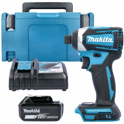 Makita DTD154 18V Brushless Impact Driver With 1 x 5.0Ah Battery, Charger, Case & Inlay