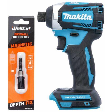 """Makita DTD154 18V Brushless Impact Driver With Drywall 1/4"""" Magnetic Bit Holder"""