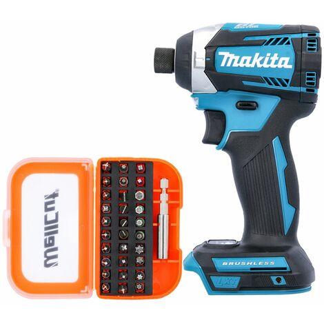 Makita DTD154 18V LXT Brushless Impact Driver With 31 Piece Screwdriver Bit Set