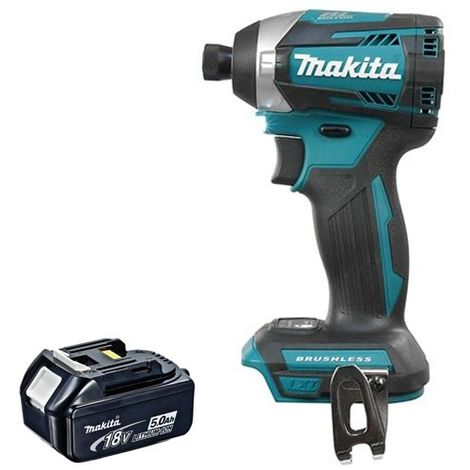 Makita DTD154Z 18V Brushless Impact Driver With 1 x 5.0Ah Battery