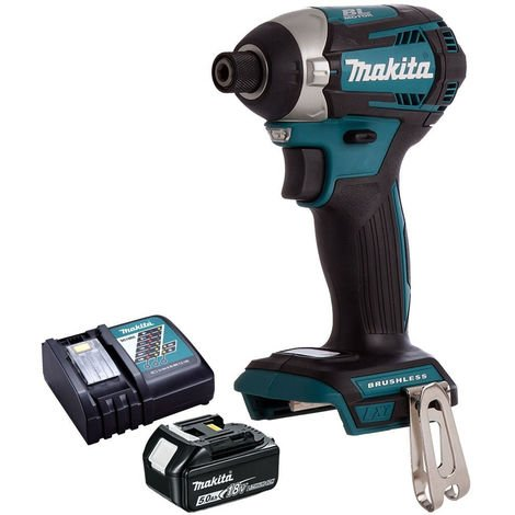 Makita DTD154Z 18V Brushless Impact Driver with 1 x 5.0Ah Battery & Charger:18V