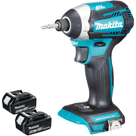 Makita DTD154Z 18V Li-ion Brushless Impact Driver with 2 x 5.0Ah Batteries:18V