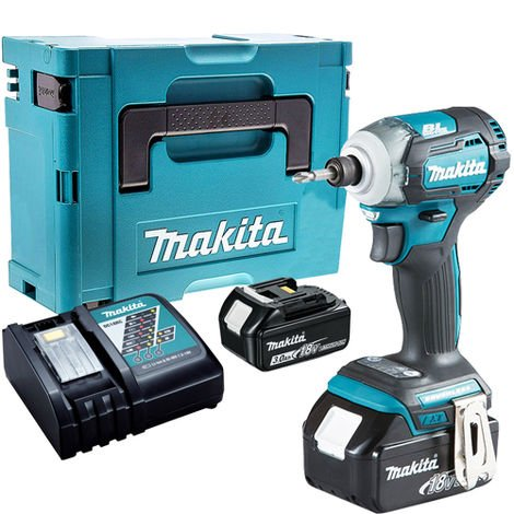 Makita DTD170Z 18V Brushless Impact Driver with 2 x 3.0Ah Batteries & Charger in Case:18V