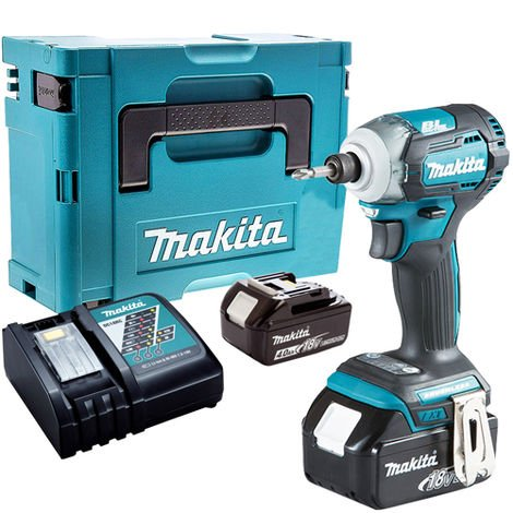 Makita DTD170Z 18V Brushless Impact Driver with 2 x 4.0Ah Battery & Charger in Case:18V