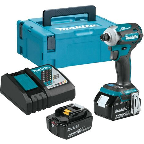 """main image of """"Makita DTD171RTJ 18v LXT Lithium Brushless Cordless 8 Stage Impact Driver 2x5ah"""""""