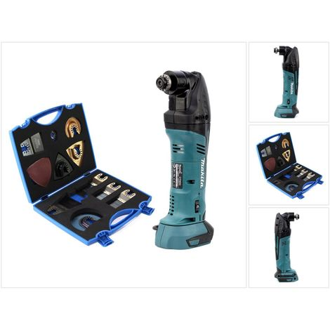Makita DTM 50 18V Li-ion Akku Multifunktion Werkzeug Solo + WellCut MT-20 Multi Tool Sägeblätter Klingen Set