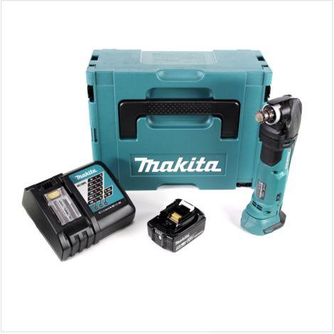 Makita DTM 51 RT1J Découpeur-ponceur multifonctions sans fil 18V Li-Ion + 1x Batterie BL 1850 5,0 Ah Li-Ion + Chargeur rapide DC 18 RC + Coffret Makpac