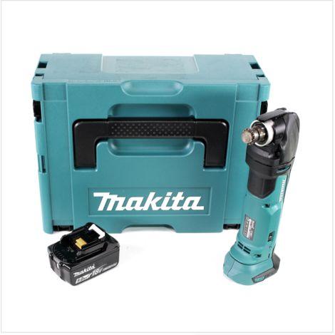 Makita DTM 51 T1J 18V Li-Ion Découpeur-ponceur multifonctions sans fil avec boîtier Makpac + 1x Batterie BL 1850 18V - 5,0 Ah Li-Ion - sans Chargeur
