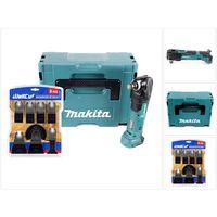 Makita DTM 51 ZJ 18 V Li-Ion Akku Multifunktion Werkzeug Solo im Makpac + WellCut MT-8 8 tlg. Sägeblätter Set