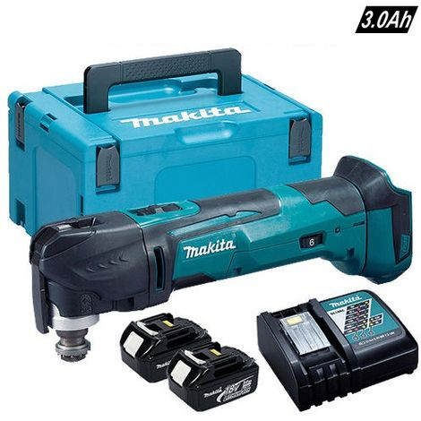 Makita DTM51RJ 18v LXT MultiTool With With 2 x 3.0ah Charger & Case