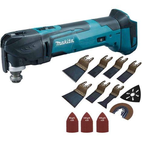 """main image of """"Makita DTM51Z 18V Li-ion Oscillating Multitool Cutter with 39 Piece Accessories Set:18V"""""""