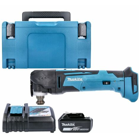 Makita DTM51Z 18V MultiTool Keyless With 1 x 3.0Ah Battery, Charger , Case & Inlay