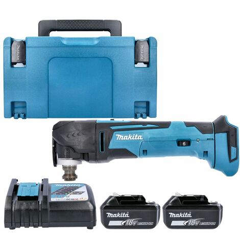 Makita DTM51Z 18V MultiTool Keyless With 2 x 3.0Ah Batteries, Charger , Case & Inlay