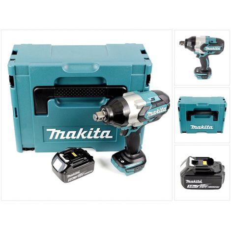 Makita DTW 1001 F1J 18 V Li-Ion Brushless Boulonneuse à chocs sans fil avec Boîtier Makpac + 1x Batterie BL 1830 3,0 Ah - sans Chargeur
