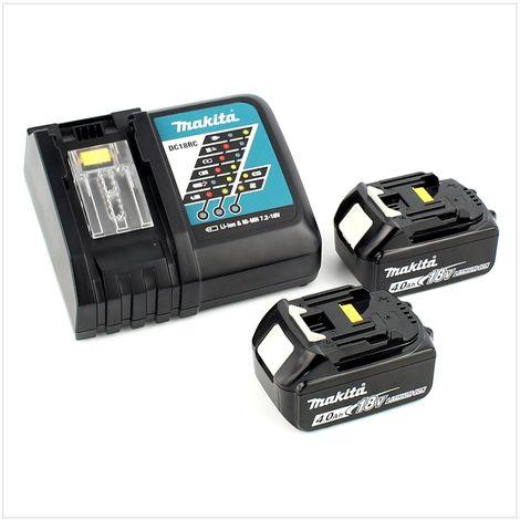 Makita DTW 285 RMJ 18 V Li-Ion Boulonneuse à chocs sans fil avec boîtier Makpac + 2x Batteries BL 1840 4,0 Ah + Chargeur rapide DC18RC