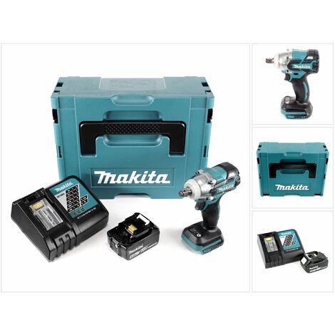 Makita DTW 285 RT1J Llave de impacto a batería 18V en Makpac 2 + 1x Batería BL 1850 5,0 Ah + Cargador DC 18 RC