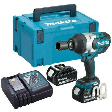 Makita DTW1001RFJ 18v LXT Brushless Impact Wrench 3/4 + 2 x 3.0ah + Makpac