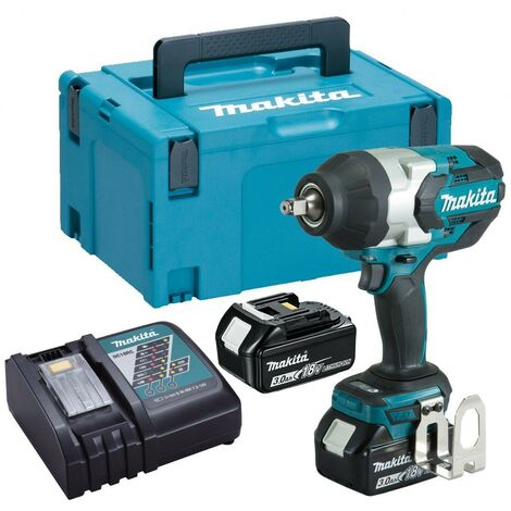 Makita DTW1002RFJ 18v LXT Brushless Impact Wrench 1/2 + 2 x 3.0ah + Makpac