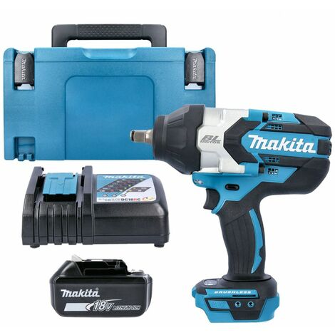 Makita DTW1002Z 18V Impact Wrench With 1 x 5.0Ah Battery, Charger, Case & Inlay