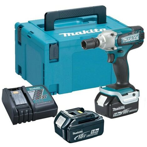 """Makita DTW190RTJ 18v Cordless LXT 1/2"""" Impact Wrench + 2 x 5.0ah Charger +MakPac"""
