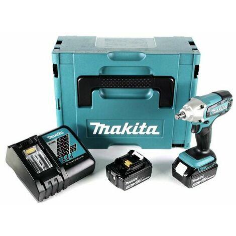 """Makita DTW190RTJ - Set clé à choc Li-Ion 18V (2x batterie 5.0Ah) dans MAKPAC - 190Nm - 1/2"""" - moteur brushless"""