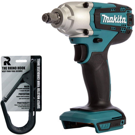 "Makita DTW190Z 18V Cordless 1/2"" Impact Wrench Body with Rhino Hook Tool Belt"