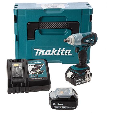 Makita DTW251RMJ Boulonneuse à chocs à batteries 18V Li-Ion set (2x batterie 4.0Ah) dans MAKPAC - 230Nm