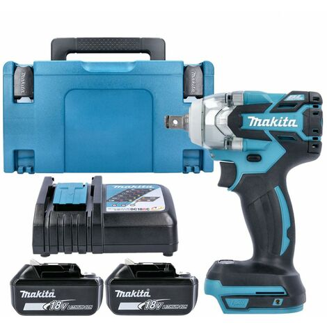 Makita DTW285 18V Brushles Impact Wrench With 2 x 6.0Ah Batteries, Charger & Case