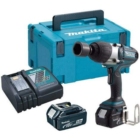 "Makita DTW450RTJ 18v Lithium Impact Wrench 1/2"" Square Drive - 2 x 5.0ah Battery"