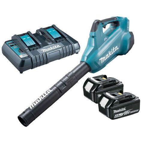 Makita DUB362PG2 Twin 18V LXT Li-Ion BL Blower Kit 2x6.0Ah Batt