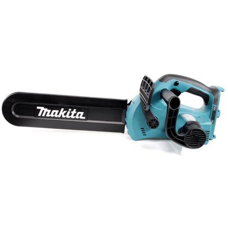 Makita DUC 302 30cm Tronçonneuse d'élagage sans fil avec 2 x 18 V = 36 V de Puissance + 2x Batteries BL 1850 + Chargeur DC 18 RD