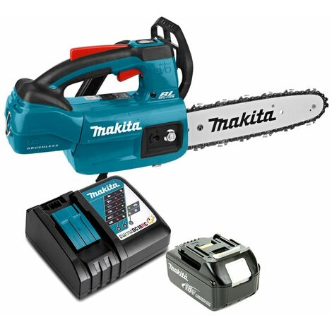 Makita DUC254 18V LXT Brushless Top Handle Chainsaw With 1 x 5.0Ah Battery & Charger
