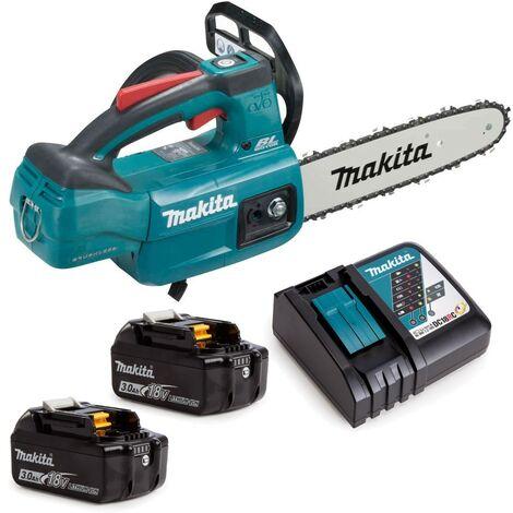 Makita DUC254RFE 18v LXT Cordless Brushless 25cm Chainsaw Top Handle 2 x 3.0ah