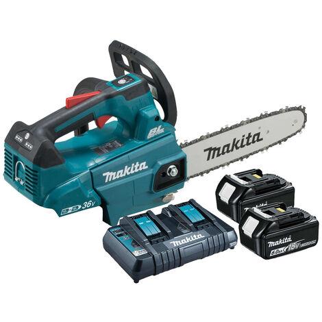 Makita DUC256 18Vx2 LXT 25cm BL Chainsaw 2 x 6Ah Batt