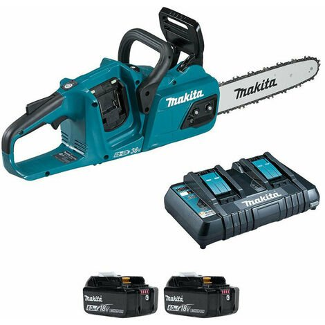 Makita DUC305PG2 Twin 18v x 2 Brushless Chainsaw 2 x 6Ah Batteries