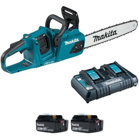 Makita DUC405PG2 Twin 18V BL LXT Chainsaw 2x6Ah Batteries