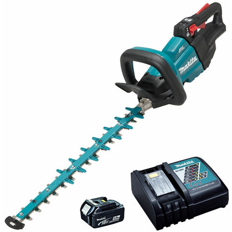Makita DUH502RT 18V LXT 50cm Brushless Hedge Trimmer with 1 x 5.0Ah Battery & Charger:18V
