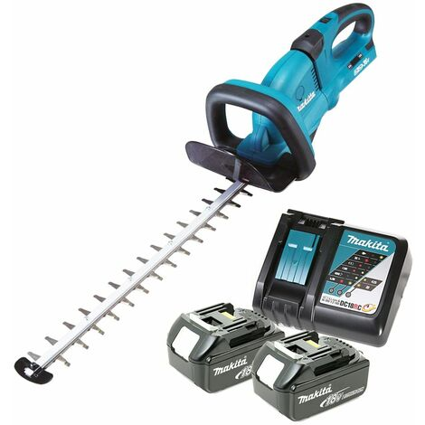 Makita DUH551 18V Twin Hedge Trimmer With 2 x 5.0Ah Batteries & Charger