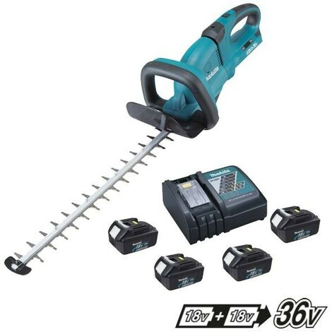 Makita DUH551 Twin LXT 18v / 36v Lithium Ion Hedge Trimmer + 4 x 3.0ah + Charger