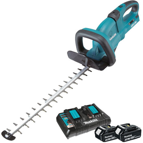 Makita DUH551Z 18v Twin 36v LXT Hedge Trimmer & 2 x 3.0Ah Twin Charger