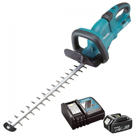 Makita DUH551Z 36V 550mm Hedge Trimmer With 1 x 5Ah Battery & Charger