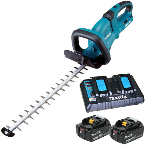 Makita DUH551Z 36V Hedge Trimmer with 2 x 6.0Ah Batteries & Twin Port Charger