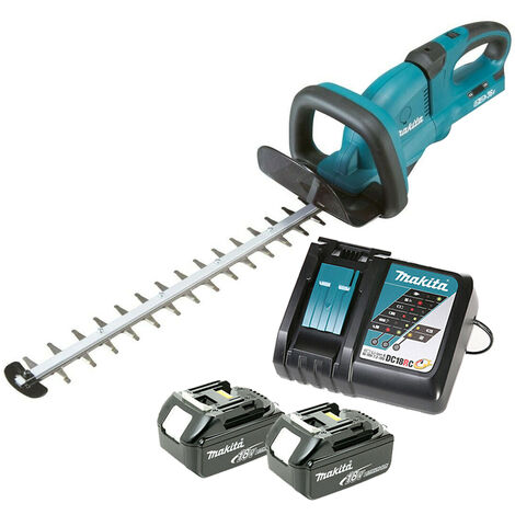 Makita DUH651 18V Twin Li-ion Hedge Trimmer With 2 x 5.0Ah Batteries & Charger