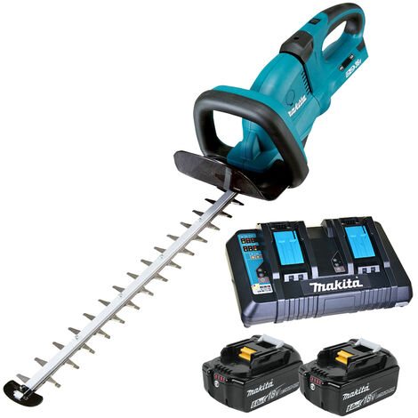 Makita DUH651Z 36V Hedge Trimmer with 2 x 6.0Ah Batteries & Twin Port Charger