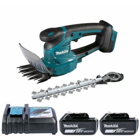 Makita DUM111 18V LXT Grass Shear & Hedge Cutter With 2 x 5.0Ah Batteries & Charger