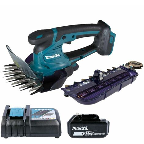 Makita DUM604 18V LXT Grass Shears 160mm With 1 x 5.0Ah Battery & Charger
